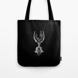 Three empty wine glasses on black Tote Bag