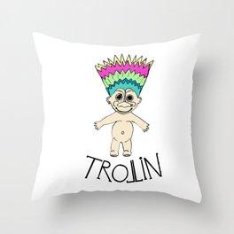 Trollin Throw Pillow