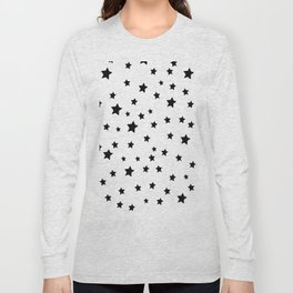 Black and White Stars Long Sleeve T-shirt