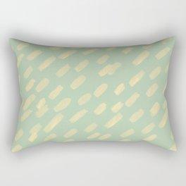 Festive Strokes- Mint + Lemon Rectangular Pillow