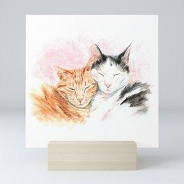 The Love of Cats - 2 Beautiful Korean Cats Mini Art Print