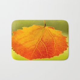 Orange Leaf Beautiful Color #decor #society6 Bath Mat