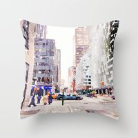 nyc Throw Pillows featuring NYC by Christine Workman