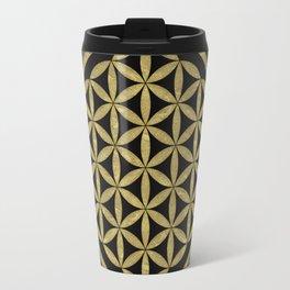 Flower Of Life (Golden Dots) Travel Mug