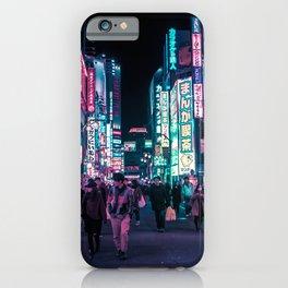 Heart Full Of Neon: Cyberpunk Overload Canvas Print iPhone Case