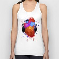 selena Tank Tops featuring No Music - No Life by Sitchko Igor