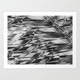 Chaotic Chess Board Art Print
