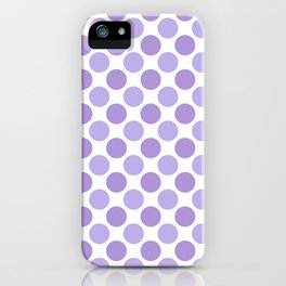 Modern trendy lavender lilac hipster polka dots iPhone Case