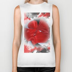 red polynomial flower -1- Biker Tank