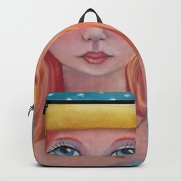 Girl with Red Hair Backpack
