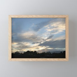 Blue sky and clouds Framed Mini Art Print