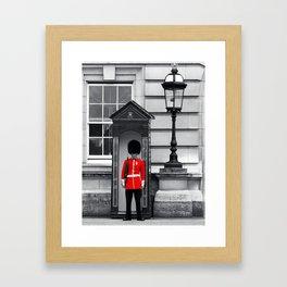 Buckingham Palace Guard Framed Art Print