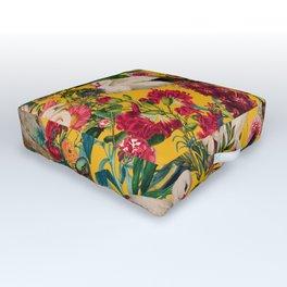 FLORAL AND BIRDS XVIII Outdoor Floor Cushion