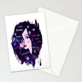 Thinking woman  Stationery Cards