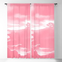 cloudy burning sky reacpw Blackout Curtain