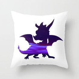 Spyro Crystal Islands Skybox Throw Pillow