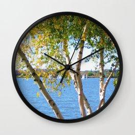 Sailing through the Birch Wall Clock