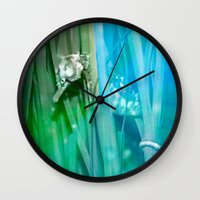 psychadelic Wall Clocks featuring Psychadelic Seahorse by Heidi Fairwood