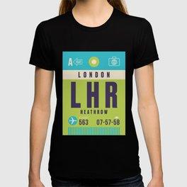 Retro Airline Luggage Tag - LHR London Heathrow T-shirt