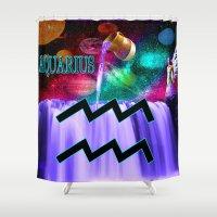 aquarius Shower Curtains featuring Aquarius by LBH Dezines