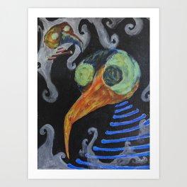 Bone Bird Art Print