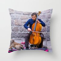 cello Throw Pillows featuring Cello by Fernando Derkoski
