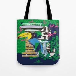 Mews in Rio de Janeiro (Typography) Tote Bag