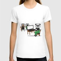 teacher T-shirts featuring Panda Teacher by WCVS Online