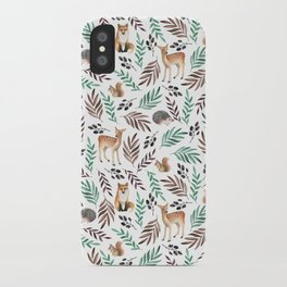Cute forest. Watercolor iPhone Case