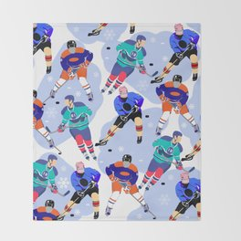 Ice Hockey print 001 Throw Blanket