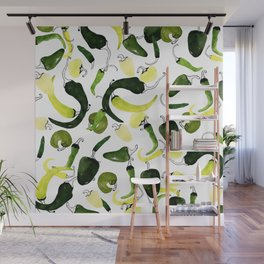 Green Peppers Wall Mural