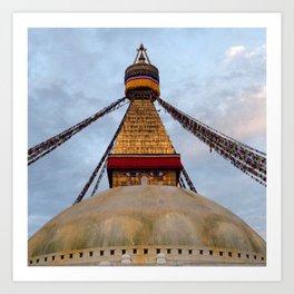 Boudhanath Stupa - Ellie Wen Art Print