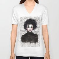 edward scissorhands V-neck T-shirts featuring Edward Scissorhands by ARTEMYSA