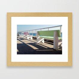Beach Benches Framed Art Print