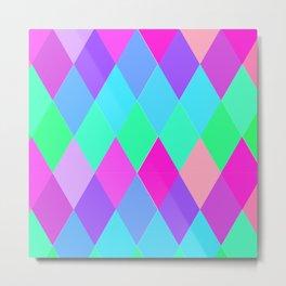 Colorful Diamond Shaped Geometric pattern Metal Print