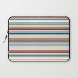 Striped Design Browns Blue Cream & White Laptop Sleeve