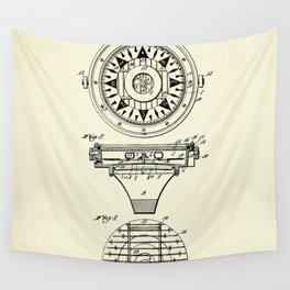 Mariner's Compass-1892 Wall Tapestry