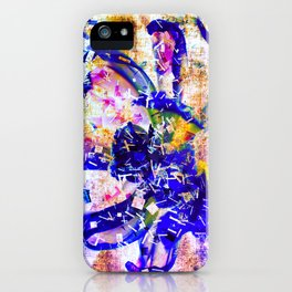 Shattered Blues iPhone Case