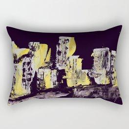 Yellow Purple Cityscape Rectangular Pillow