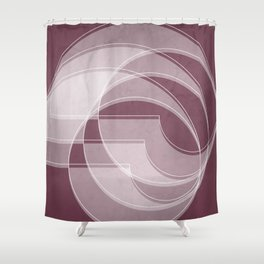 Spacial Orbiting Spiral in Mulberry Shower Curtain