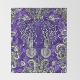 The Kraken (Purple - NoText, Alt.) Throw Blanket