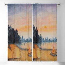 Starry Campfire Blackout Curtain