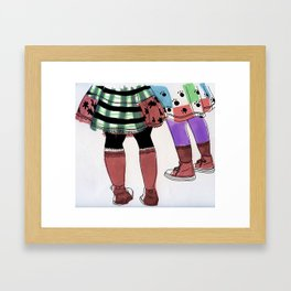 Colourful Legs Framed Art Print