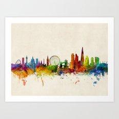 London England Skyline Art Print