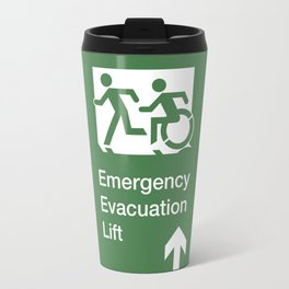 Accessible Means of Egress Icon, Emergency Evacuation Lift / Elevator Sign Travel Mug