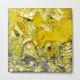 Yellow Spring Pattern Metal Print