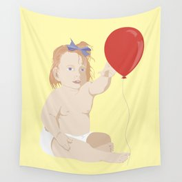 BOW BABY Wall Tapestry