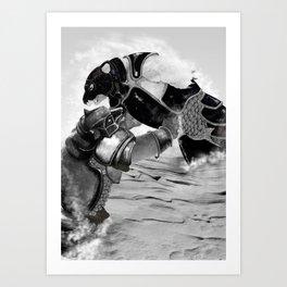 Iorek Byrnison Fights. Art Print