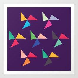 Colorful geometric pattern IV Art Print