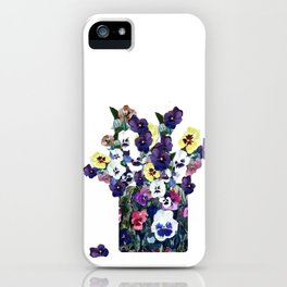 A pot of pansies iPhone Case
